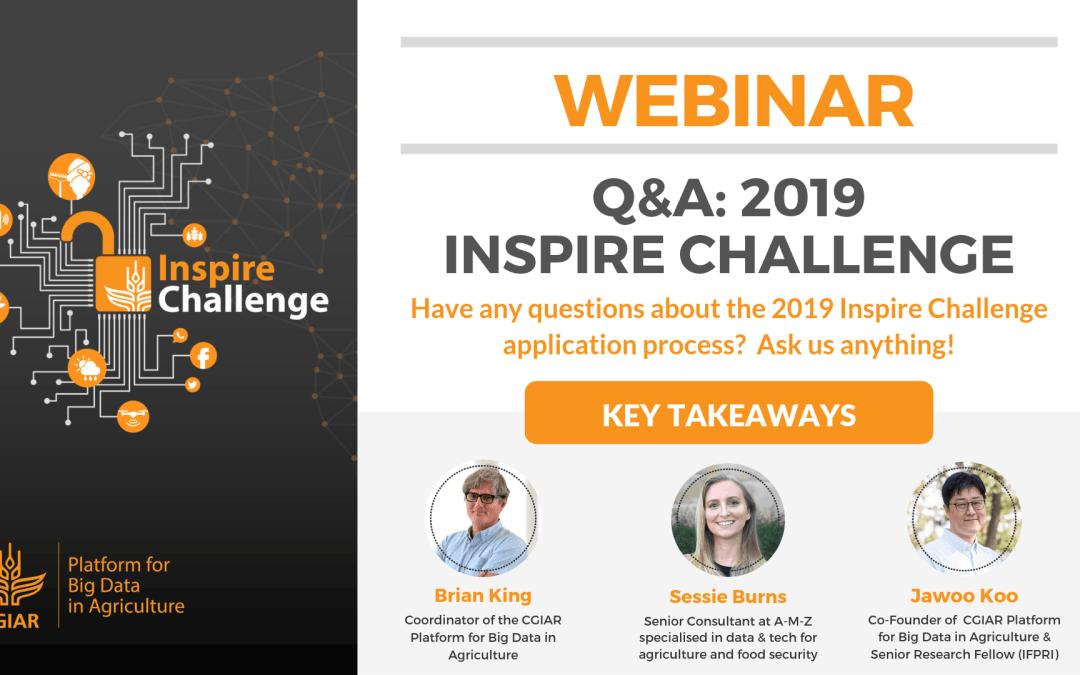 2019 Inspire Challenge Q&A webinar: Key takeaways