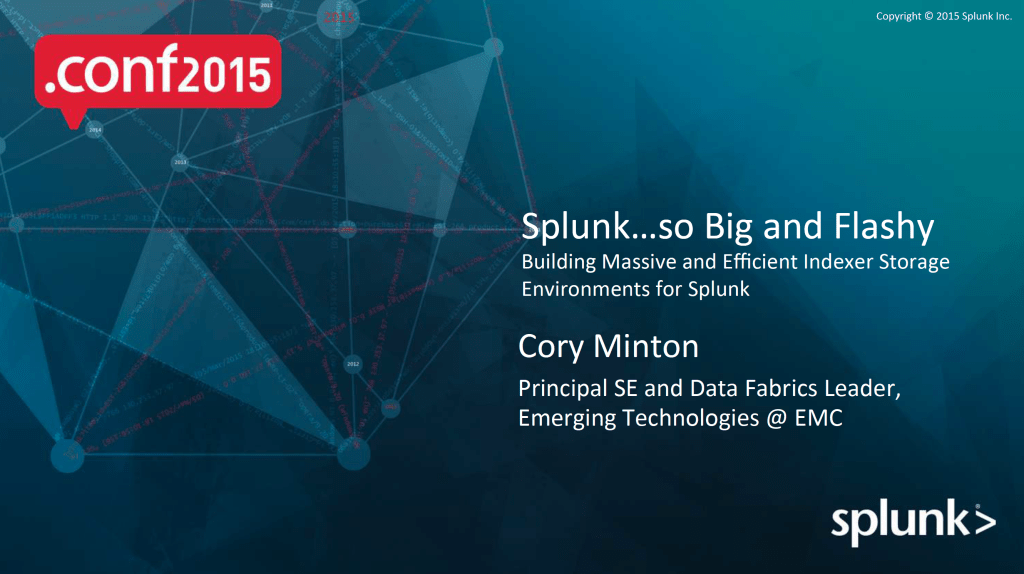 Splunk .CONF Session from EMC