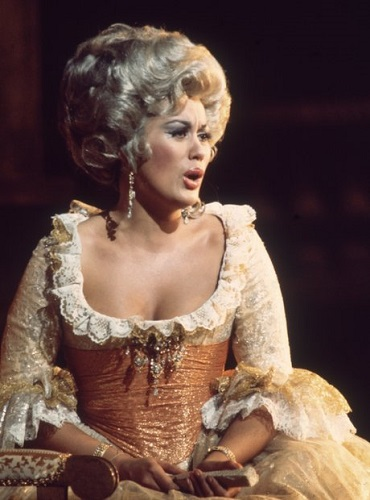 New Zealand soprano Kiri Te Kanawa as the Countess in Figaro