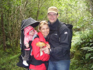 French family at Folwleys Falls Co. Leitrim
