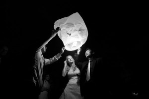 Chinese Lanterns at a wedding in Derbyshire on 11/11/2011