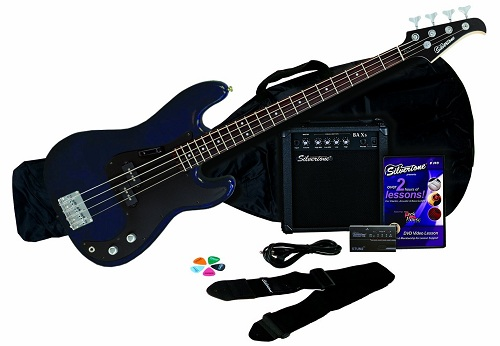 Silvertone LB11 Bass Guitar and Amp Package
