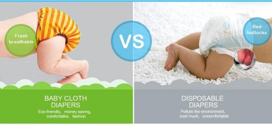 Disposable vs. Cloth Diapers