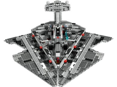 The Imperial Star Destroyer is smaller than the 6211 Imperial Star Destroyer by 7 pieces