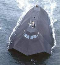 US Navy sea shadow stealth ship