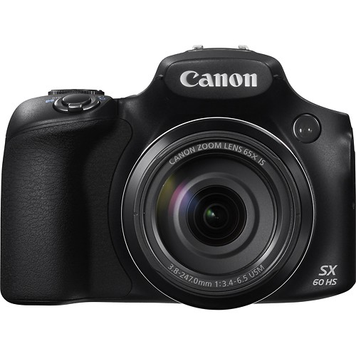 Canon PowerShot SX60 HS Compact digital still camera with built-in flash, 65x Optical, 4x Digital and 260x Combined Zoom with Optical Image Stabilizer