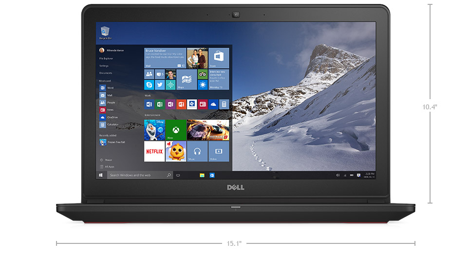 Dell Inspiron i7559-7512GRY 15.6 Inch UHD Touchscreen Laptop