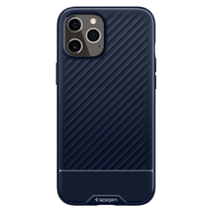 Spigen – Core Armor Case For Apple Iphone 12 Pro Max – Navy Blue