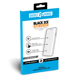 Gadget Guard – Black Ice Flex Screen Protector For Samsung Galaxy Note20 Ultra 5g – Clear
