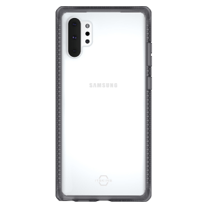 Itskins – Hybrid Frost Mkii Case For Samsung Galaxy Note10 Plus – Black And Transparent