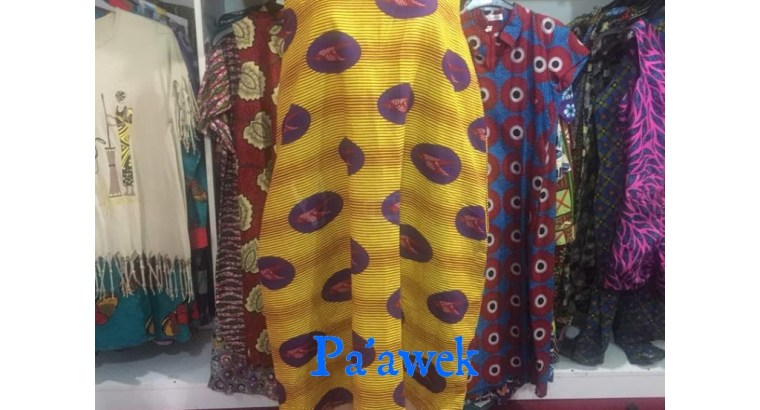 Cowl tent neck Ankara dress