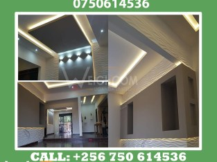Modern Gypsum ceiling designers and installers in Kampala.