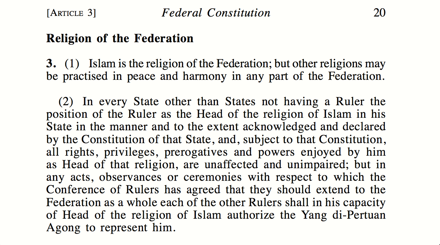 Article 3 1 Amp 3 2 Of The Federal Constitution