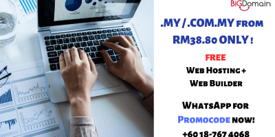 .MY /.COM.MY from RM38.80 ONLY ! FREE Web Hosting & Web Builder ! 7