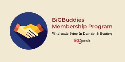 BigDomain is launching BigBuddies Program ! Buy / Resell domain from RM4.90 8