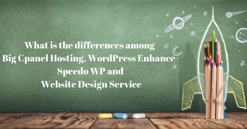 The differences among Big cPanel Hosting, WordPress Enhance-Speedo WP & Website Design Service 1