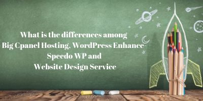The differences among Big cPanel Hosting, WordPress Enhance-Speedo WP & Website Design Service 3
