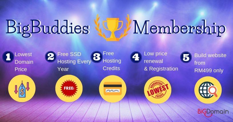 BigDomain Gold Membership - BigBuddies! 1