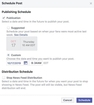Facebook Tests 'Suggested Time' Feature for Scheduled Posts 5