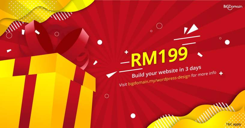 Own your WordPress website from RM199 now 1