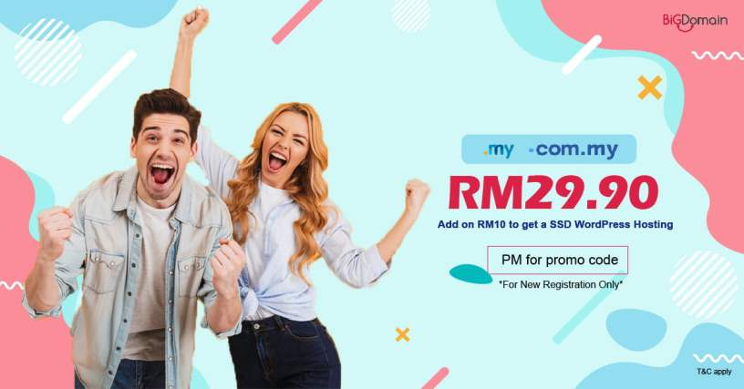 Get your .MY domain at RM29.90 only !!! 1