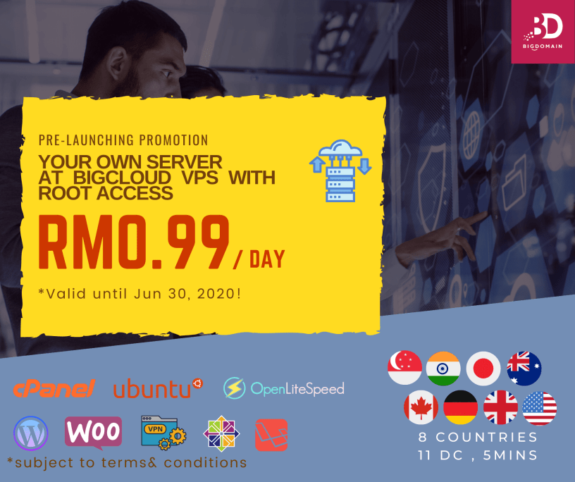 Malaysia & Singapore Server   BigDomain BigCloud VPS Private Cloud Servers Offer from RM0.99