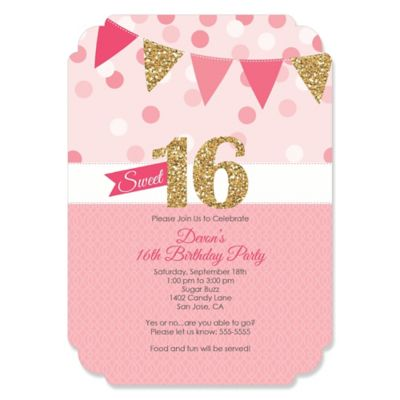 sweet 16 party invites fashion dresses