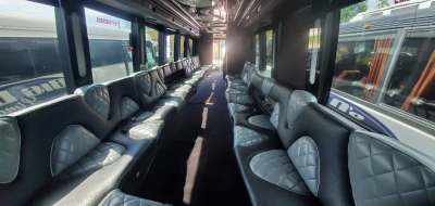 3 60 - 53 Passenger<br>VIP Tour Party Bus</br>Limo #60