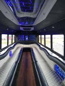 bus 31 interior 1 - 27 Passenger<br>550 Party Bus</br>Limo #31