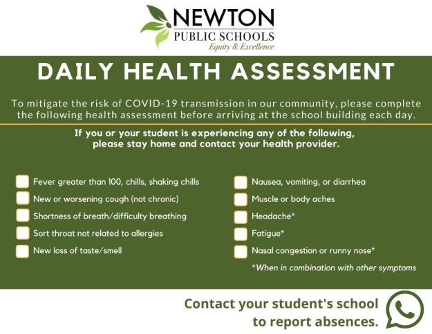 NPS Daily Health Assessment