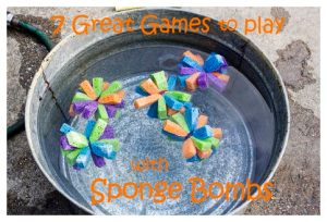 7 Great Games to Play with Sponge Bombs