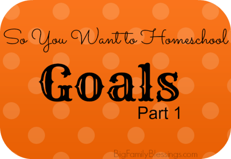 Goals {So You Want to Homeschool?}