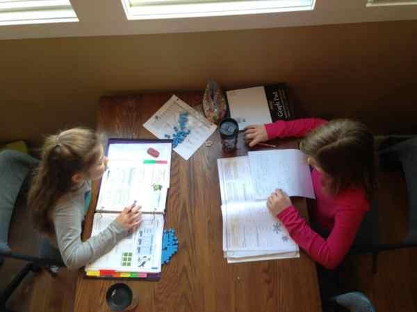 Big kid homeschooling