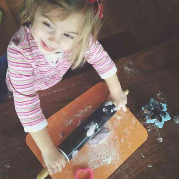 glitter salt dough snowflakes
