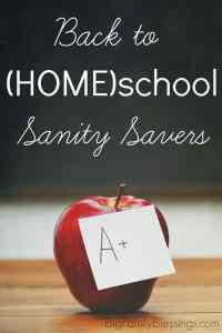 Back to (HOME)school Sanity Savers