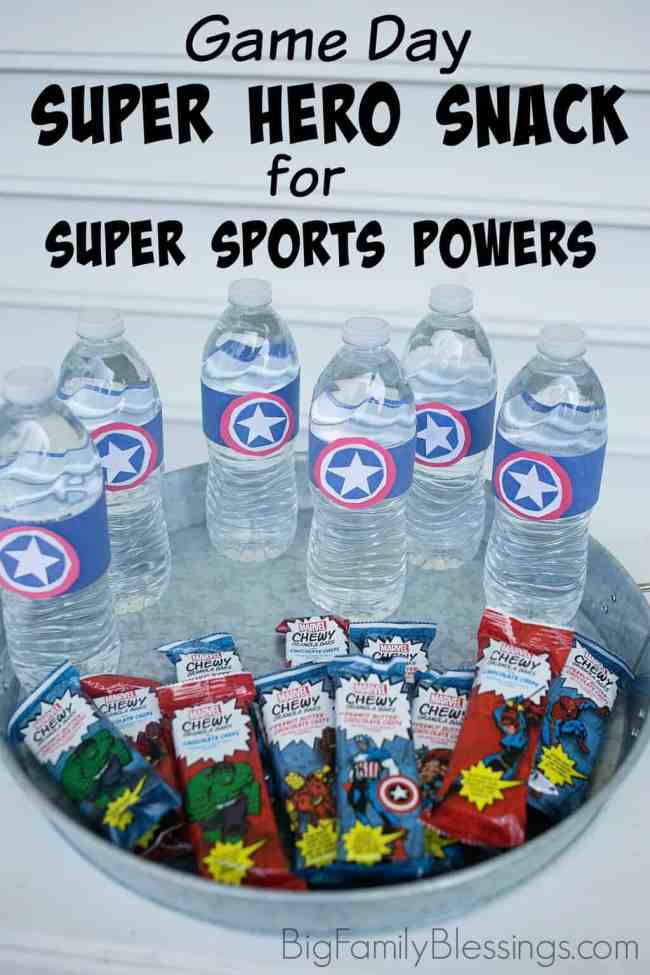 Create a Super Hero Snack on Game Day for Super Sports Powers