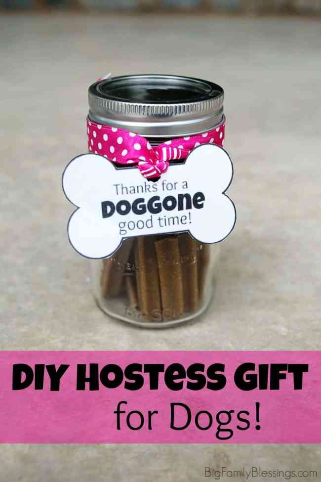 Thanks for the DOGGONE good time hostess gift for dogs