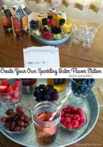 Create Your Own Sparkling Water Flavor Station for Kids