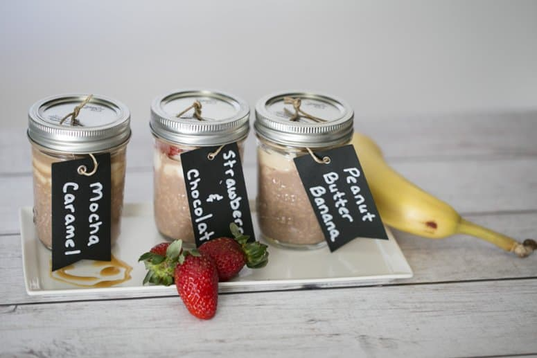 3 variations of Chocolate Overnight Oats