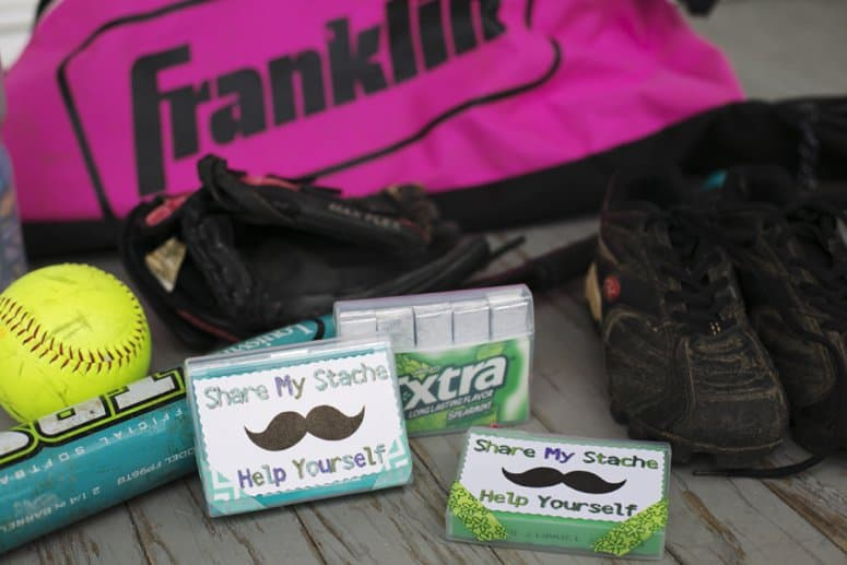 Break the Ice with a DIY Share My Stache Gum Pack