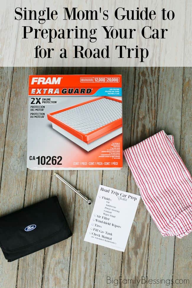 So, with summer travel looming, what can a single Mom do to ensure her car is in good shape for a road trip?