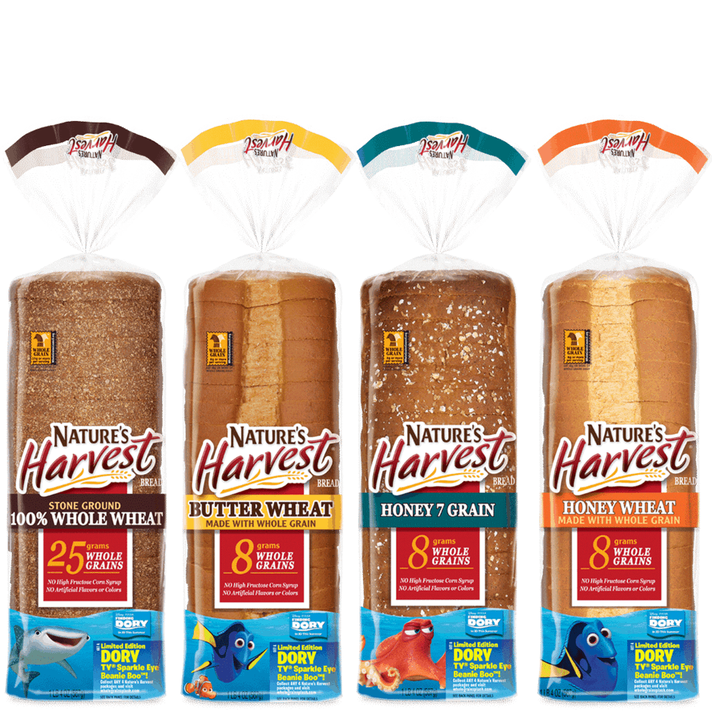 Varieties Of Nature S Harvest Bread Include Stone Ground 100 Whole Wheat Bread Honey