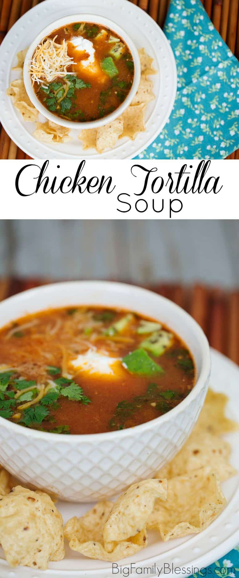 Not only is it super simple to cook, this Chicken Tortilla Soup tastes as good as any I've ever had at a restaurant!