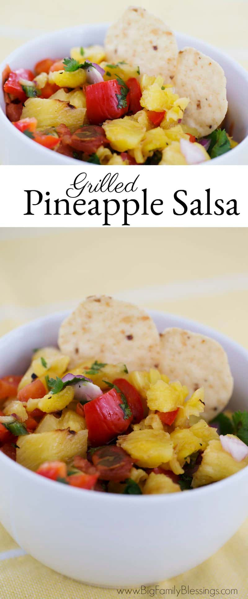 Grilled Pineapple Salsa - absolutely delicious and so simple to prepare. From grill to the table in less than 30 minutes!