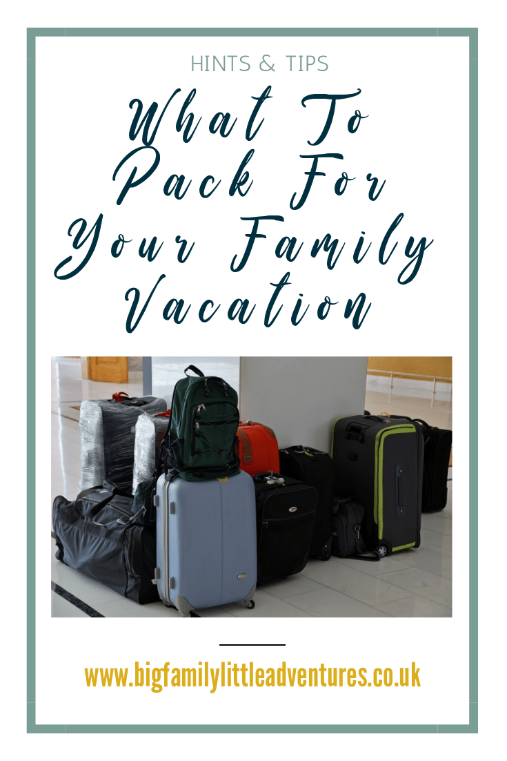 Packing for a large family takes ultimate precision, especially if many of the passengers are children and require lots of clothing and equipment, check out this guide for the ultimate packing list
