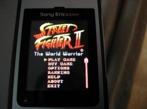 Street Fighter II menu