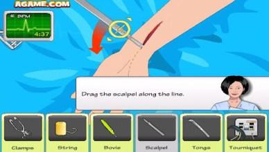 arm surgery scalpel slice