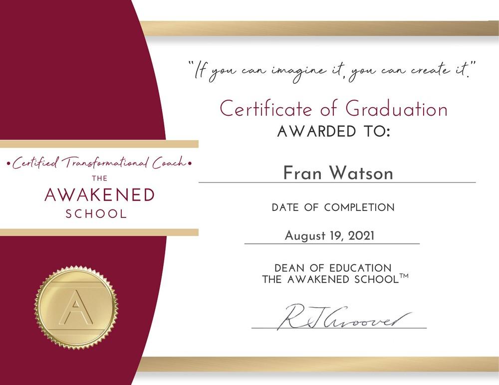 awakened school certificate