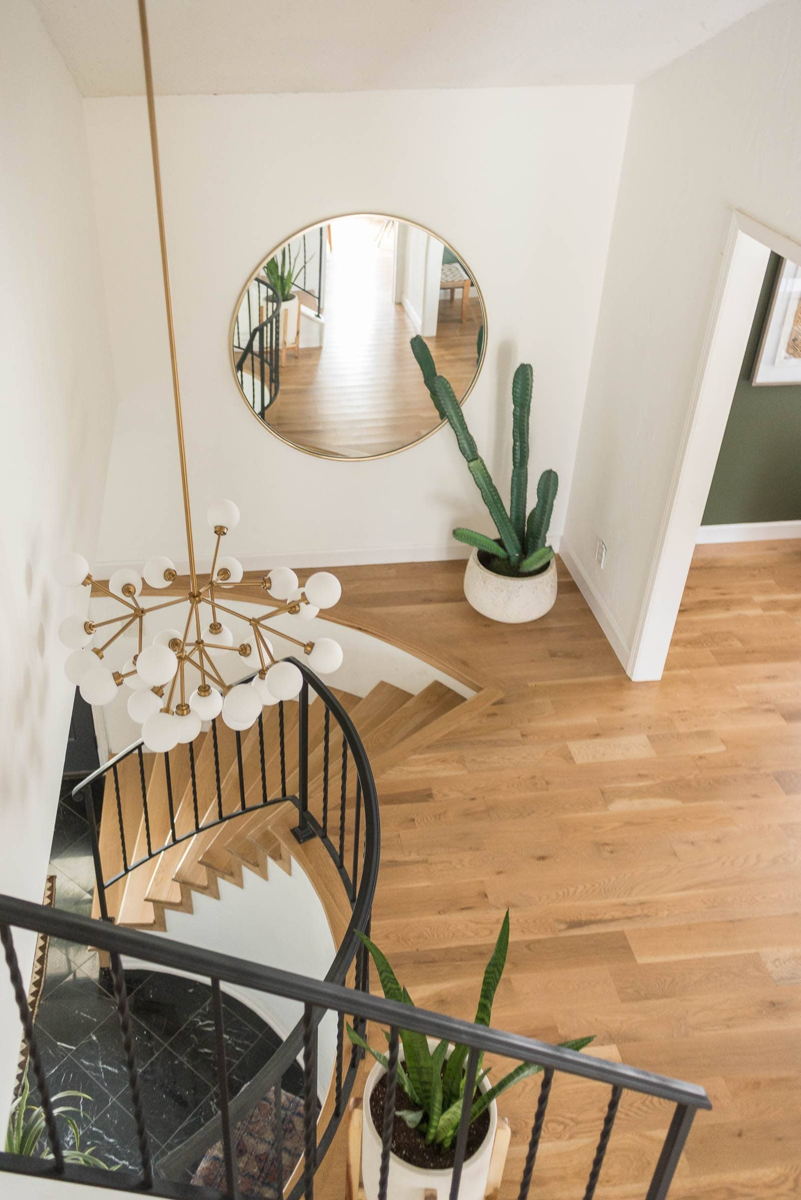 Stair Railing Idea Update Wrought Iron Handrails Bigger Than | Wood And Rod Iron Railing | Wooden | Dark Stained | Wrought Iron | Pipe | Simple Modern