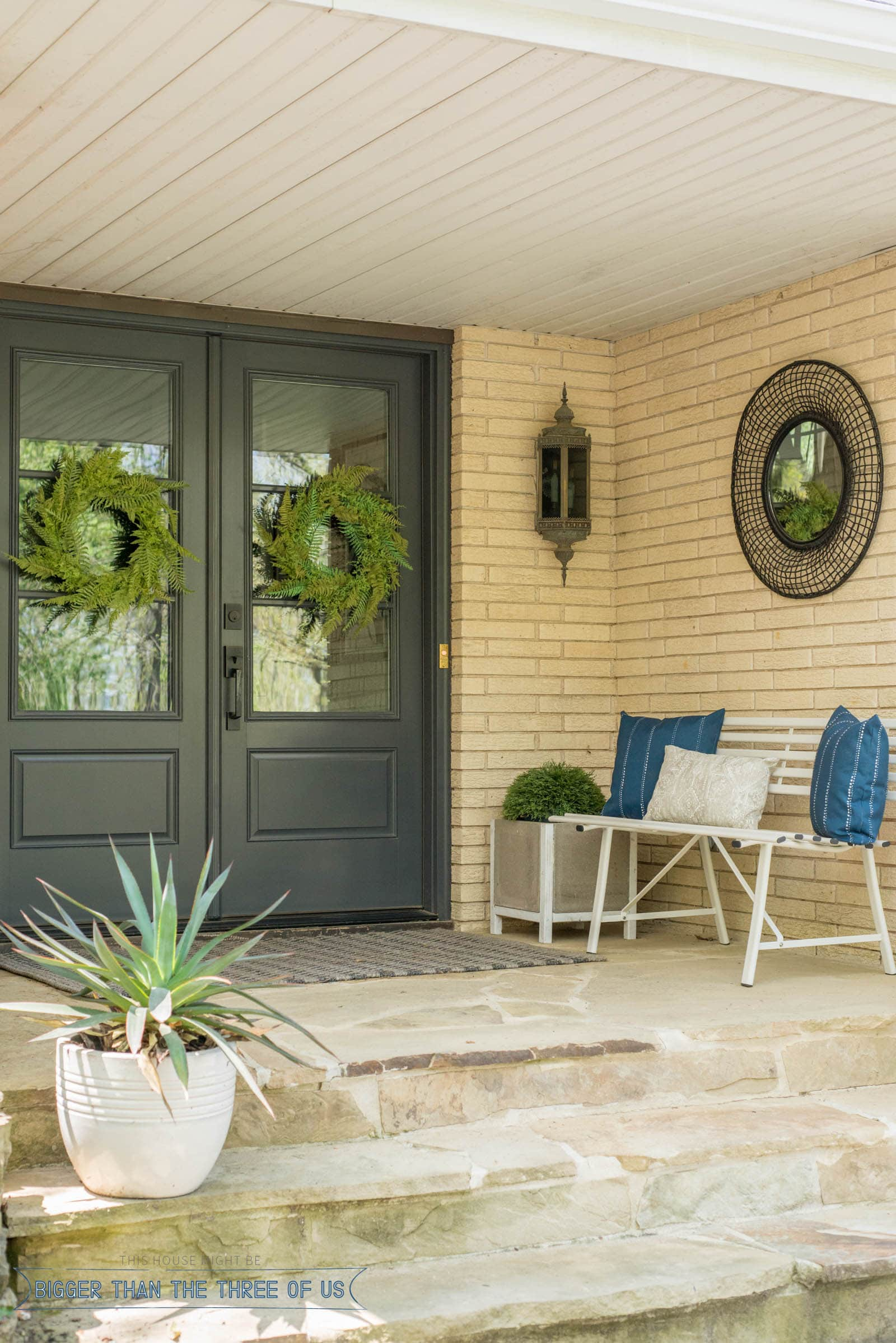 ideas for a modern front porch for